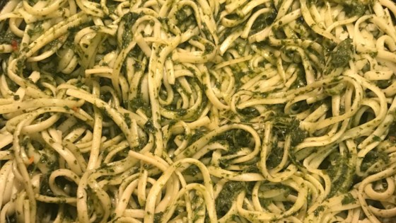 Photo of Vegan Linguine With Spinach Pesto by luna