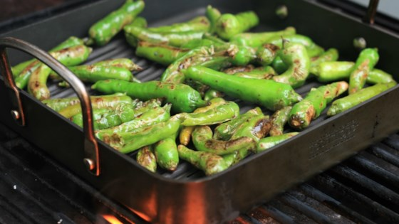 Grilled Sesame-Soy Shishito Peppers Recipe