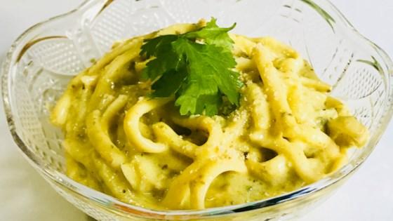 Photo of Creamy Poblano Spaghetti by Mari