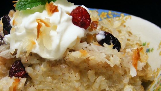 Photo of Coconut-Raisin Rice Pudding by Debbie  Skaggs