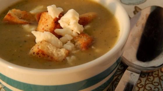 Photo of Chilled Zucchini-Leek Soup by stella