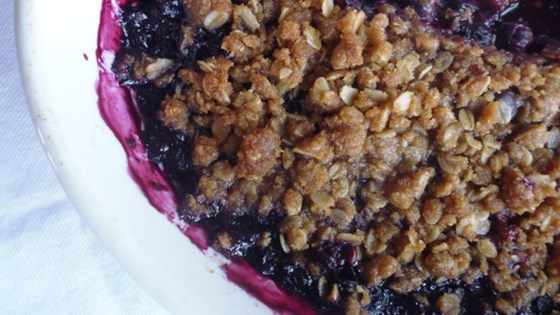 Photo of Easy Blueberry Crumble by Naschkatze
