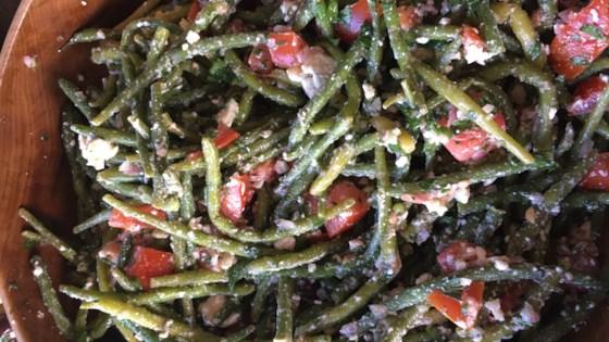 Photo of Greek Green Bean Salad with Feta and Tomatoes by Gundi