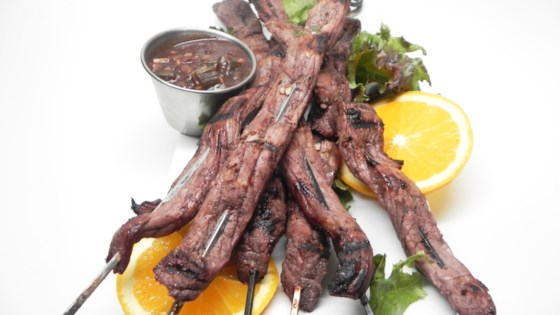 Photo of Red Wine and Orange Marinated Beef Skewers by Sandy