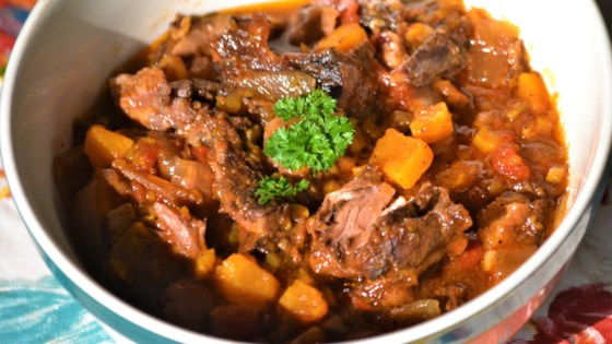 Photo of Slow Cooker Smoked Oxtail and Sweet Potato Stew by Kim
