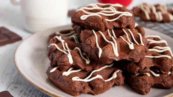 Photo of Spiced Chocolate Waffle Cookies by In The Raw