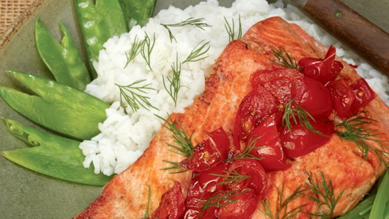 Photo of Salmon with Sauteed Tomatoes by T-fal