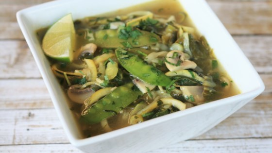 Photo of Lemongrass Coconut Curry Soup with Zucchini Noodles by Cindy Anschutz Barbieri