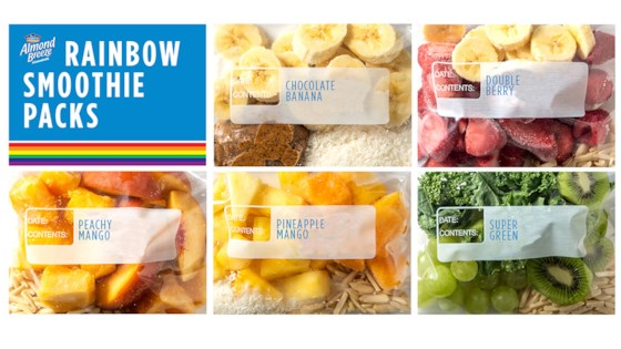 Photo of Rainbow Smoothie Packs by Almond Breeze