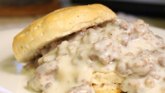 Photo of Easy Sausage Gravy and Biscuits by JimmyDean