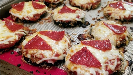 Photo of Keto Parmesan-Breaded Eggplant Pizzas by Laken Greenwood