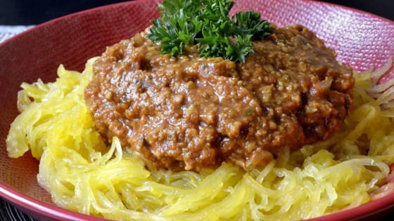 Photo of Low-Carb, Vegan Spaghetti Squash 'Bolognese' by eloline
