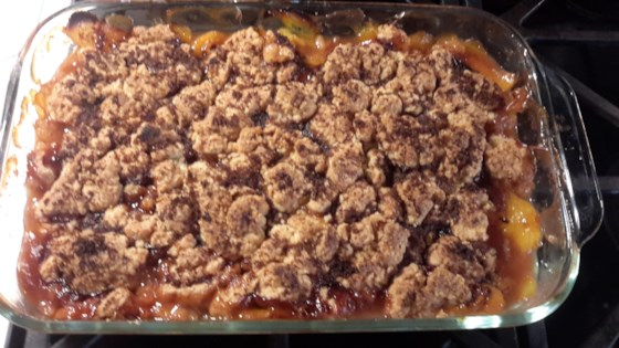 Photo of Healthier Southern Peach Cobbler by MakeItHealthy