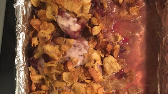 Photo of Three-Minute Prep Baked Crispy Cranberry Chicken by Tzipper