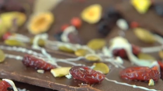 Photo of White Chocolate, Cranberry, and Pumpkin Seed Bark by Diana Moutsopoulos