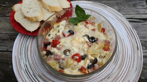 Photo of Instant Pot® Mediterranean Pizza Dip by Chef Mo