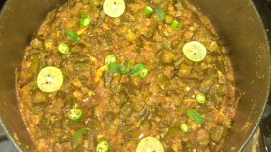 Photo of Kadai Bhindi (Indian style Okra with Bell Peppers) by lucky