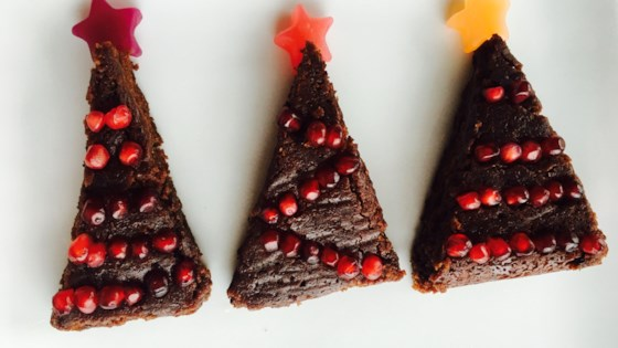 Photo of Vegan Christmas Tree Brownies by Rita