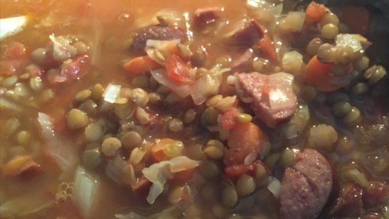 Photo of Lentil and Smoked Sausage Soup by STREETZFREELOAD