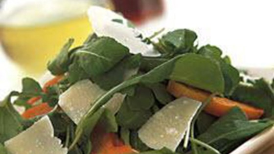 Photo of Arugula Salad with Roasted Butternut Squash and Parmesan Cheese by Myrrhe Buffing