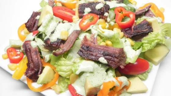 Photo of Slow Cooker Steak Salad with Cilantro Lime Dressing by dompdx
