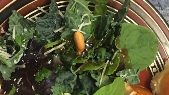 Photo of Kale Salad with Peanut Dressing by lrlake