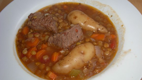 Photo of Beef and Lentil Stew by Krenzlich