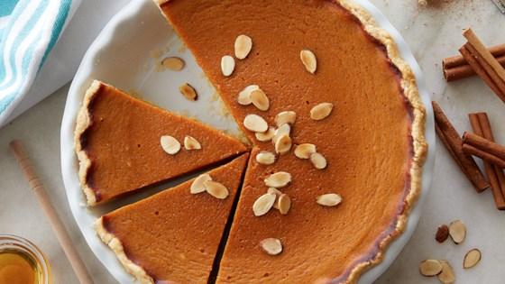 Photo of Dairy-Free Honey Pumpkin Pie by Almond Breeze