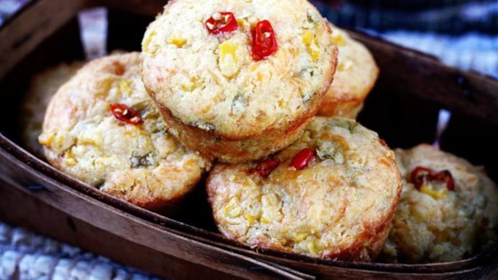 Green Chile Corn Muffins Recipe