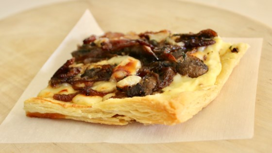 Photo of Savory Mushroom, Onion, and Bacon Puff Pastry Tart  by HEYHON53
