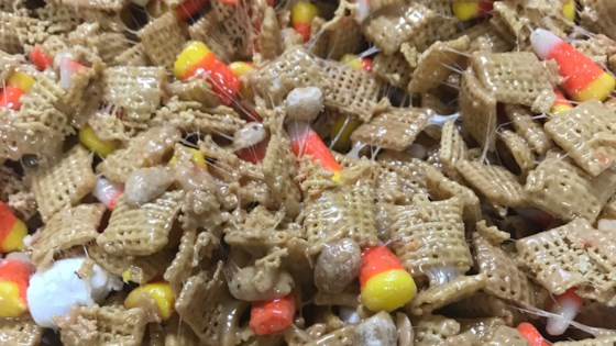 Photo of Peanutty Candy Corn Cereal Bars by NICOLEGARDNER