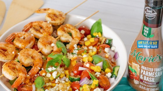 Photo of Roasted Tomato, Grilled Corn, and Shrimp Salad by Marie's Dressings