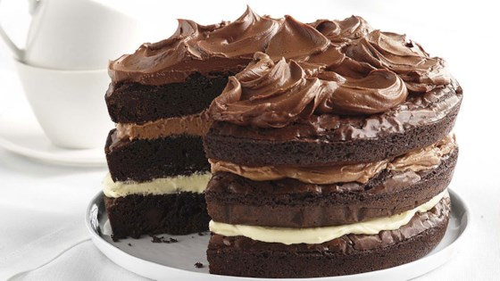 Photo of Ghirardelli Ombre Brownie Cake by Ghirardelli