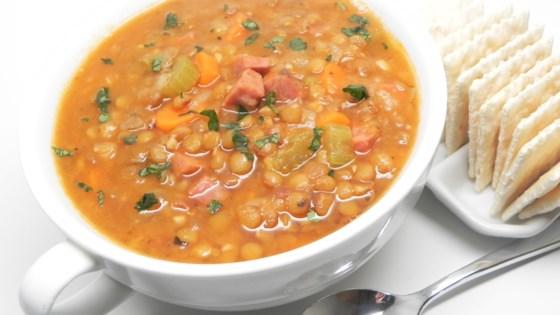 Photo of Instant Pot® Lentil and Ham Soup by nolteteam