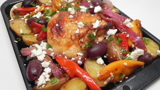 Photo of Mediterranean Chicken Sheet Pan Dinner by Soup Loving Nicole