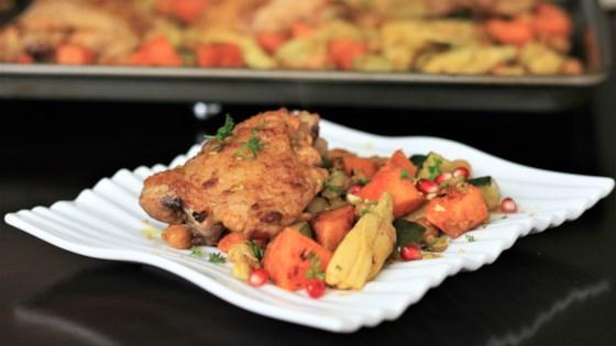 Moroccan Chicken Thigh Sheet Pan Dinner Recipe Allrecipes