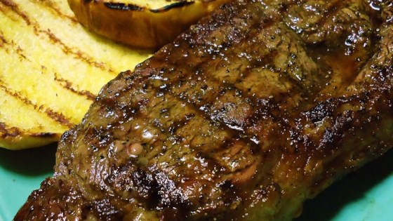 Bourbon Street Rib-Eye Steak Recipe
