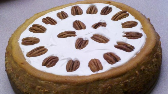 Photo of Pumpkin Cheesecake with Sour Cream Topping by Christine