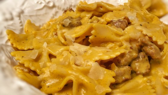 Photo of Pasta with Italian Sausage and Pumpkin Sauce by jmcnutt28