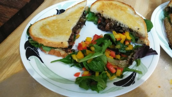Photo of Manchego and Mushroom Sandwiches with Arugula Salad by Lazer S.