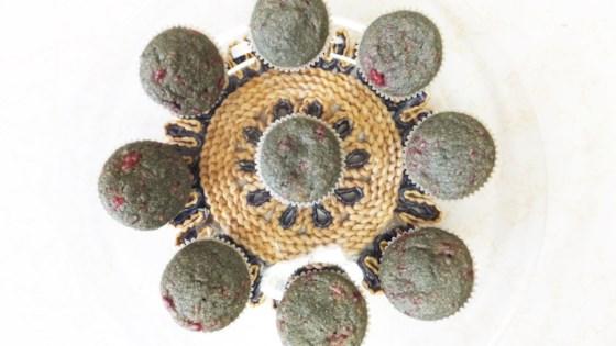 Photo of Vegan and Gluten-Free Matcha Raspberry Mini Muffins  by Gracker's Kitchen