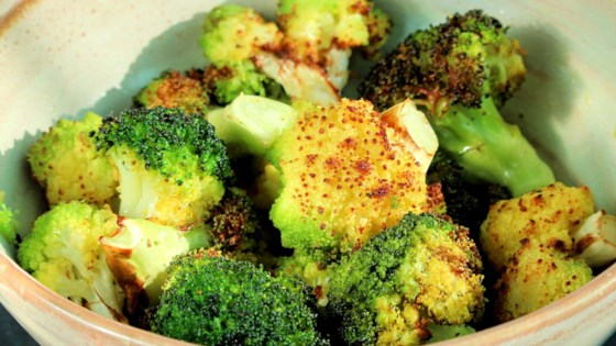 air fryer roasted broccoli and cauliflower review by suz