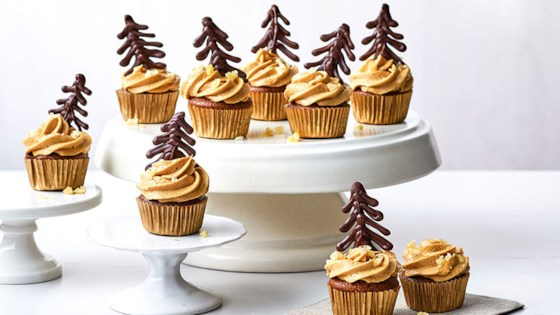 Photo of Ghirardelli Mini Gingerbread-Chocolate Chip Cupcakes With Molasses Buttercream  by Ghirardelli