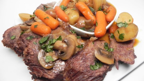 Photo of Pressure Cooker Chuck Roast with Veggies and Gravy by Heather Dunn