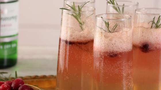 Photo of Cranberry-Rosemary Prosecco Float by Julie Hubert