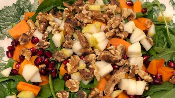 Photo of Arugula Persimmon Pear Salad by leesean