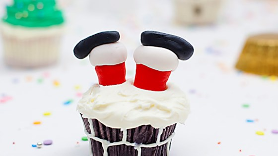 Photo of Santa Leg Cupcakes by Magda