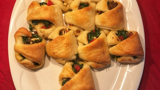 Photo of Sausage and Feta Crescent Roll Christmas Tree by Beanie VanBuskirk