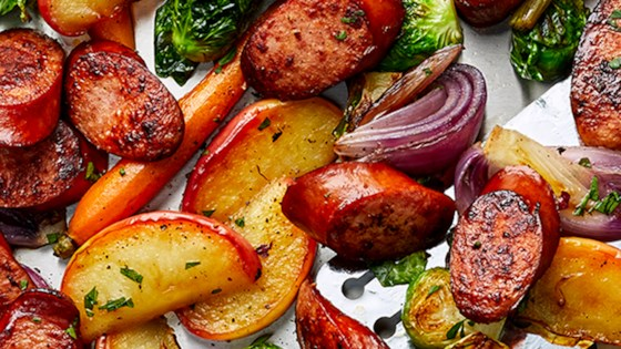 Photo of Sheet Pan Smoked Sausage, Apple, and Root Veggie Dinner by Hillshire Farm® Brand