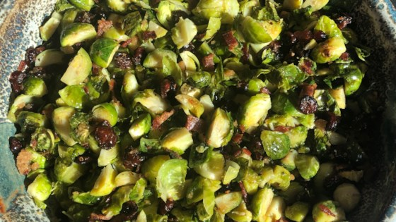 Photo of Roasted Brussels Sprouts with Cranberries by ingrid1031